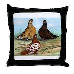 Shortfaced Tumbler Pigeons Throw Pillow
