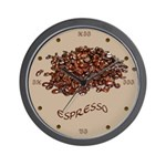 Espresso Wall Clock