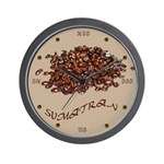 Sumatran Coffee Wall Clock