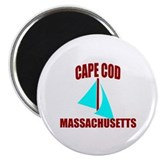 Cape Cod Massachusetts Sail Magnet