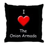 Onion Armada Throw Pillow