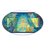 Mayahuel Mural Oval Sticker