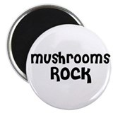 Mushrooms Rock Magnet