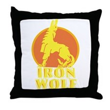 iron wolf Throw Pillow