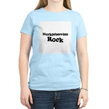 Huckleberries Rock Women's Pink T-Shirt