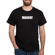 MONDAY Black T-Shirt