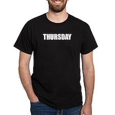 THURSDAY Black T-Shirt