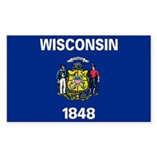 Wisconsin State Flag Decal