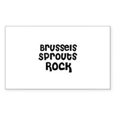 Brussels Sprouts Rock Rectangle Decal