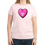 I Love My Tabby Cat Women's Pink T-Shirt