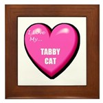 I Love My Tabby Cat Framed Tile