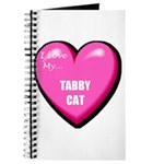 I Love My Tabby Cat Journal
