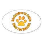 Mastiff Sticker (Oval 50 pk)