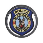 Glendale Police K9 Wall Clock