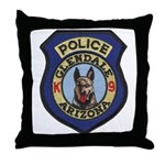 Glendale Police K9 Throw Pillow