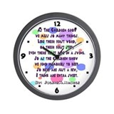 children grow poem Wall Clock