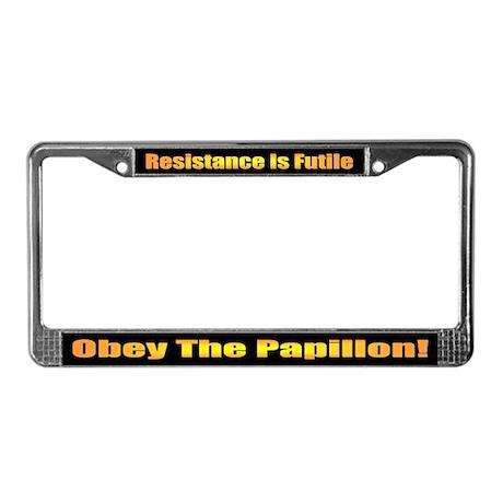 Papillon License Plate Frame