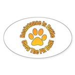 Pit Bull Sticker (Oval)