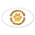 Pomeranian Sticker (Oval 10 pk)