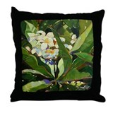 Plumeria Delight Throw Pillow
