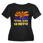 Viva Los SB1070 Women's Plus Size Scoop Neck Dark