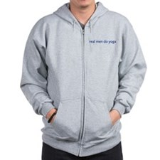 Real Men Do Yoga Zip Hoodie