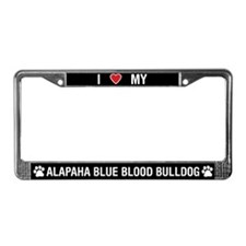 Alapaha Blue Blood Bulldog License Plate Frame