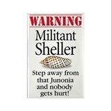 Militant Sheller Rectangle Magnet