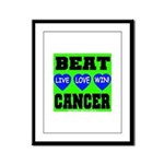 Beat Cancer! Live Love Win! Framed Panel Print