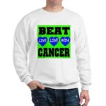 Beat Cancer! Live Love Win! Sweatshirt