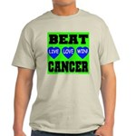 Beat Cancer! Live Love Win! Ash Grey T-Shirt