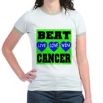 Beat Cancer! Live Love Win! Jr. Ringer T-Shirt