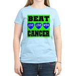 Beat Cancer! Live Love Win! Women's Pink T-Shirt