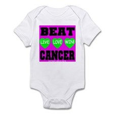 Beat Cancer! Live Love Win! Infant Creeper