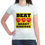 Live Love Win Beat Heart Dise Jr. Ringer T-Shirt