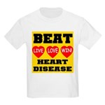 Live Love Win Beat Heart Dise Kids T-Shirt