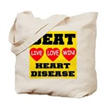 Live Love Win Beat Heart Dise Tote Bag