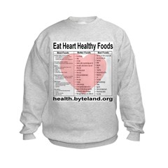 Eat Heart Healthy Foods Kids Sweatshirt