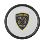 Hillsboro Police Canine Large Wall Clock