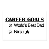 World's Best Dad - Ninja Goals Postcards (Package