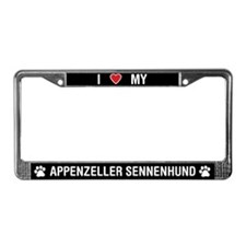 Love My Appenzeller Sennenhund License Plate Frame