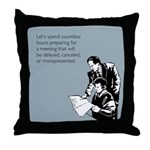 Countless Hours Throw Pillow