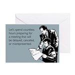 Countless Hours Greeting Card