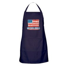 God Bless America With Bacon Apron (dark)