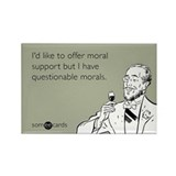 Questionable Morals Rectangle Magnet