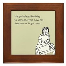 Happy Belated Birthday Framed Tile