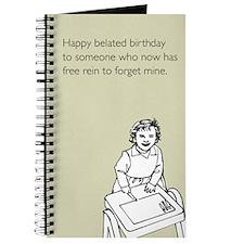 Happy Belated Birthday Journal