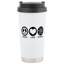 Peace Love Physics Ceramic Travel Mug
