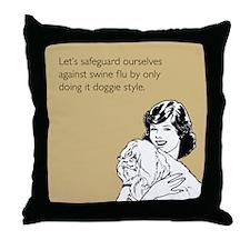 Doggie Style Throw Pillow