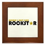 World's Best Dad Rockstar Framed Tile